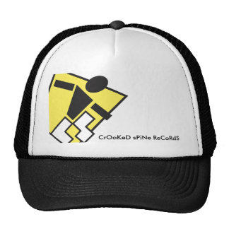 Crooked Spine Records Old School Trucker Hat