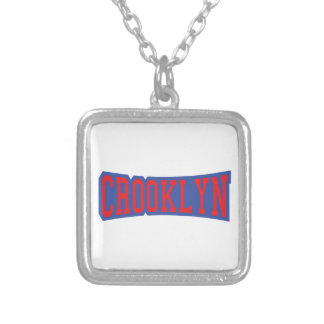 CROOKLYN, NYC SQUARE PENDANT NECKLACE