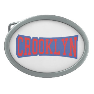 CROOKLYN, NYC OVAL BELT BUCKLE