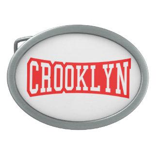 CROOKLYN, NYC OVAL BELT BUCKLES