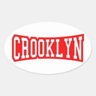 CROOKLYN, NYC OVAL STICKER