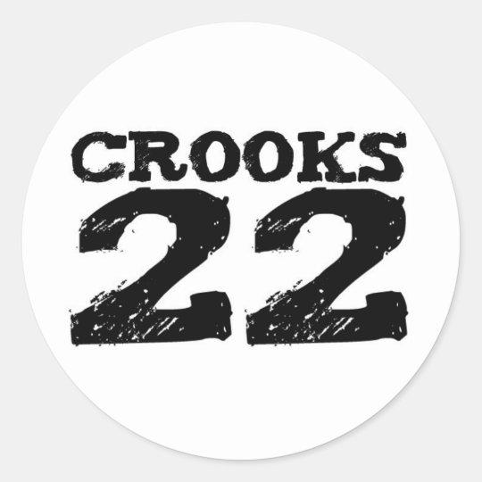 CROOKS 22 CLASSIC ROUND STICKER