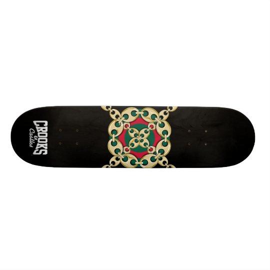 Crooks & Castles Bulls Eye Link (Black) Skateboard