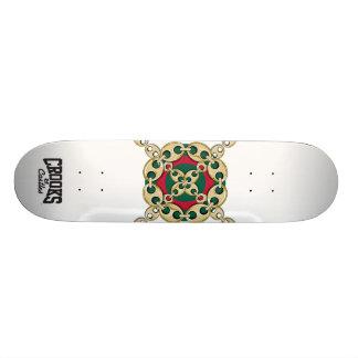 Crooks & Castles Bulls Eye Link (White) Skateboard
