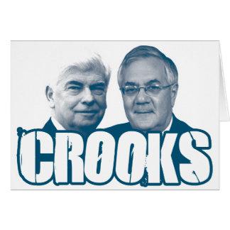 CROOKS: Chris Dodd and Barney Frank Greeting Card