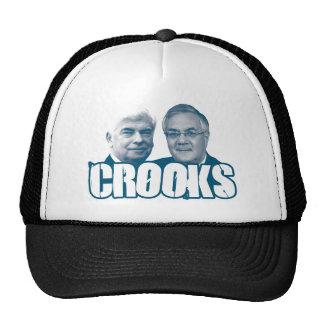 CROOKS: Chris Dodd and Barney Frank Trucker Hats