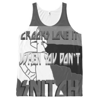 Crooks Love It All-Over Printed Unisex Tank, L All-Over-Print Tank Top