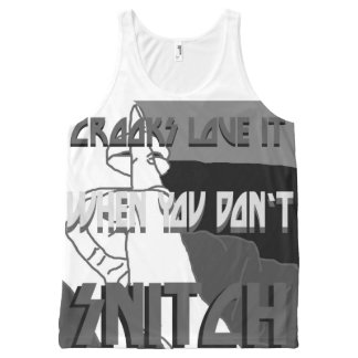 Crooks Love It All-Over Printed Unisex Tank, XS All-Over Print Tank Top