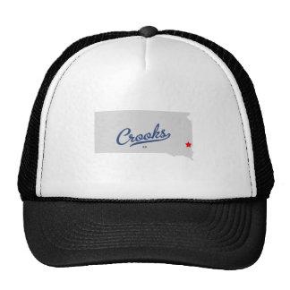 Crooks South Dakota SD Shirt Trucker Hats