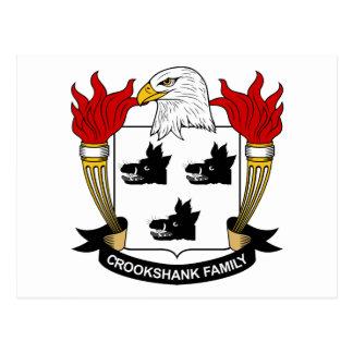 Crookshank Family Crest Postcard