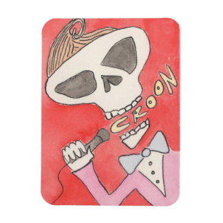 'Croon' Skeleton Magnet by Kenneth Joyner