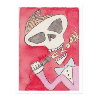 """Croon"" skeleton Postcard"
