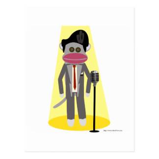 Crooner Monkey Postcard