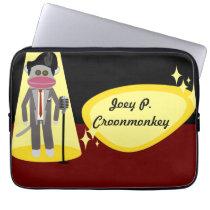 Crooner Sock Monkey Deluxe Computer Sleeve