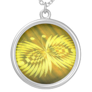 Crop Circle 4 Silver Plated Necklace