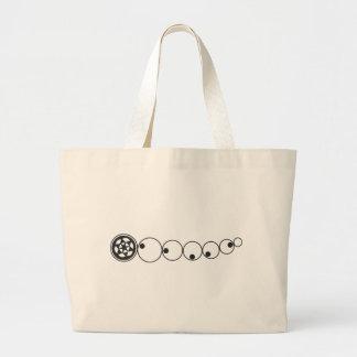 Crop circle 9 canvas bags