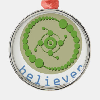 Crop Circle Believer Metal Ornament