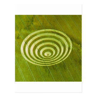 Crop Circle Cissbury Rings 1995 Postcard