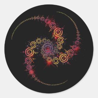 crop circle classic round sticker
