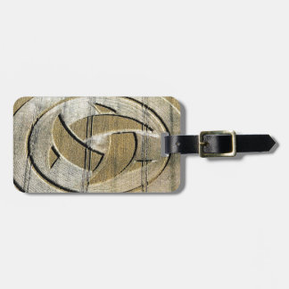 Crop Circle Crescent Moons Wiltshire Tag For Luggage