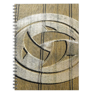 Crop Circle Crescent Moons Wiltshire Spiral Note Books