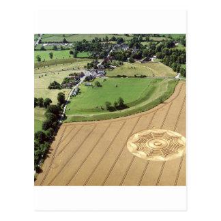 Crop Circle Dreamcatcher Avebury 1994 Postcard