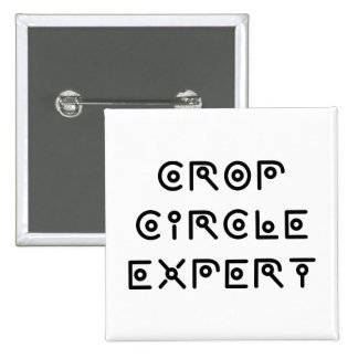 Crop Circle Expert 2 Inch Square Button