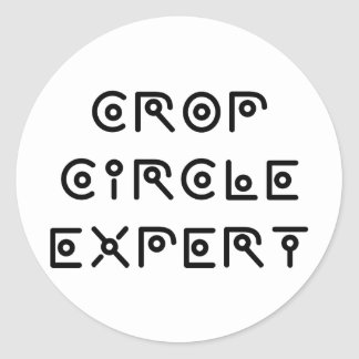 Crop Circle Expert Classic Round Sticker