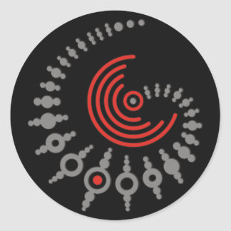 crop circle I   black Classic Round Sticker