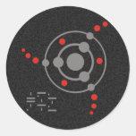crop circle II | black splatter Round Sticker