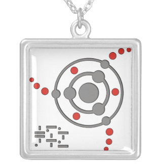 crop circle II Silver Plated Necklace