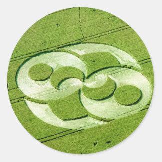 Crop Circle Julia Set Liddington Castle 1996 Classic Round Sticker