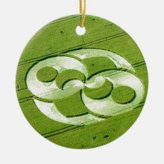 Crop Circle Julia Set Liddington Castle 1996 Christmas Tree Ornaments