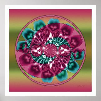 Crop Circle Mandala 1 Poster