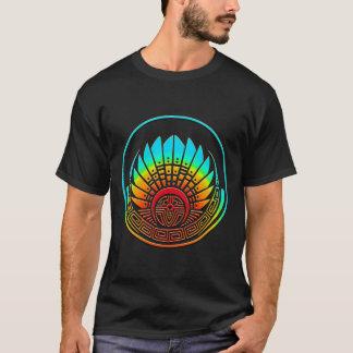 Crop circle - Mayan mask - Quetzalcoatl T-Shirt