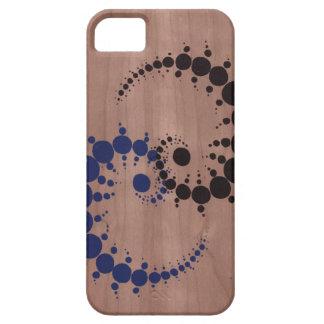 Crop Circle on Wood Grain iPhone SE/5/5s Case