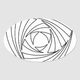 Crop Circle Sacred Geometry Bag Oval Sticker