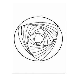 Crop Circle Sacred Geometry Bag Postcard