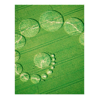 Crop Circle Seventeen Moons Wiltshire Customized Letterhead