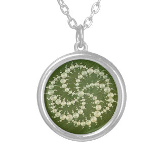 Crop Circle Silver Plated Necklace