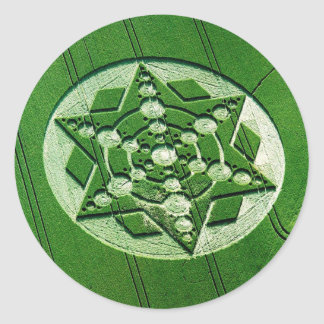 Crop Circle Spinning Star Wiltshire Classic Round Sticker