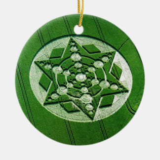 Crop Circle Spinning Star Wiltshire Double-Sided Ceramic Round Christmas Ornament