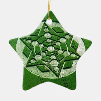 Crop Circle Spinning Star Wiltshire Double-Sided Star Ceramic Christmas Ornament
