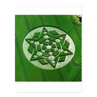 Crop Circle Spinning Star Wiltshire Postcard