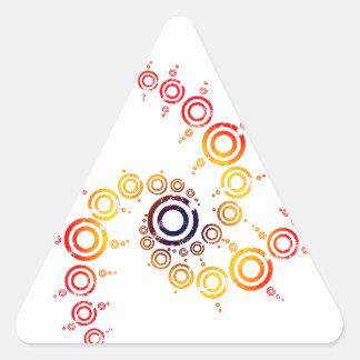 crop circle triangle sticker
