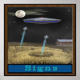 Crop circle ufo poster