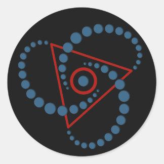 crop circle VI   black Classic Round Sticker