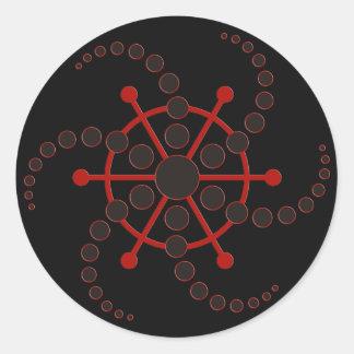 crop circle VII   black Classic Round Sticker