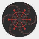 crop circle VII | black Round Stickers