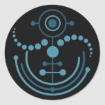 crop circle VIII | black Stickers